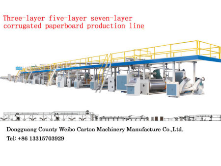 3,5 or 7 Layer Corrugated Paperboard Production Line