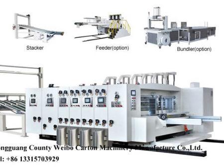 WB-H high  seven color flexo printing slotting rotary die-cutting machine