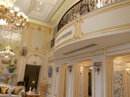 西安高檔別墅使用恭喜發財款式的裝飾風口