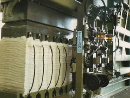 全自动TITAN棉纱业钢带包装