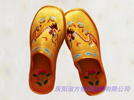 男式繡花拖鞋