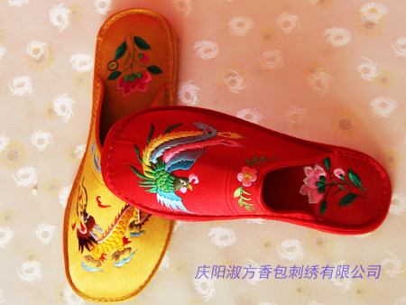 男女式繡花拖鞋