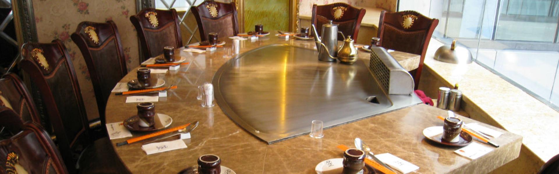 马蹄形厨房设备案例样品图