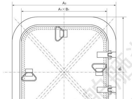 铝质埋入式水密舱口盖
