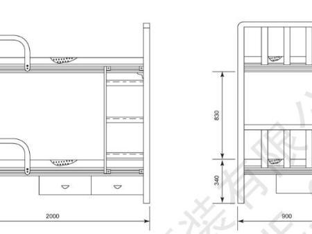 DC02-2 铝质双层叠床