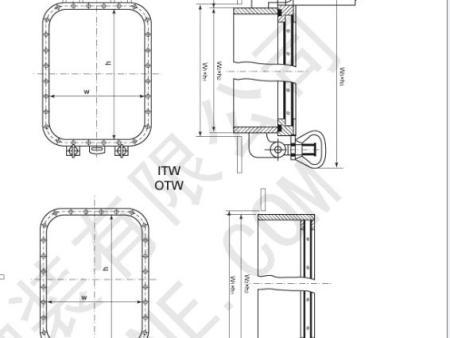 焊接式矩形窗