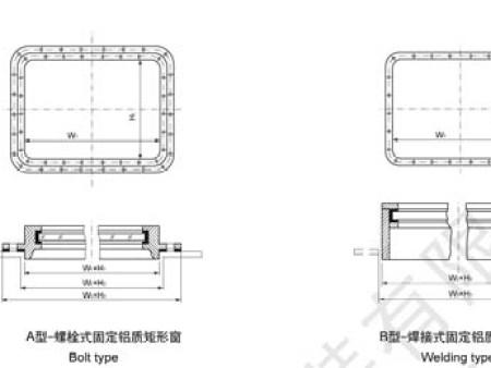 螺栓式矩形窗