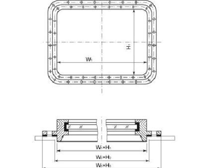 驾驶室固定矩形窗
