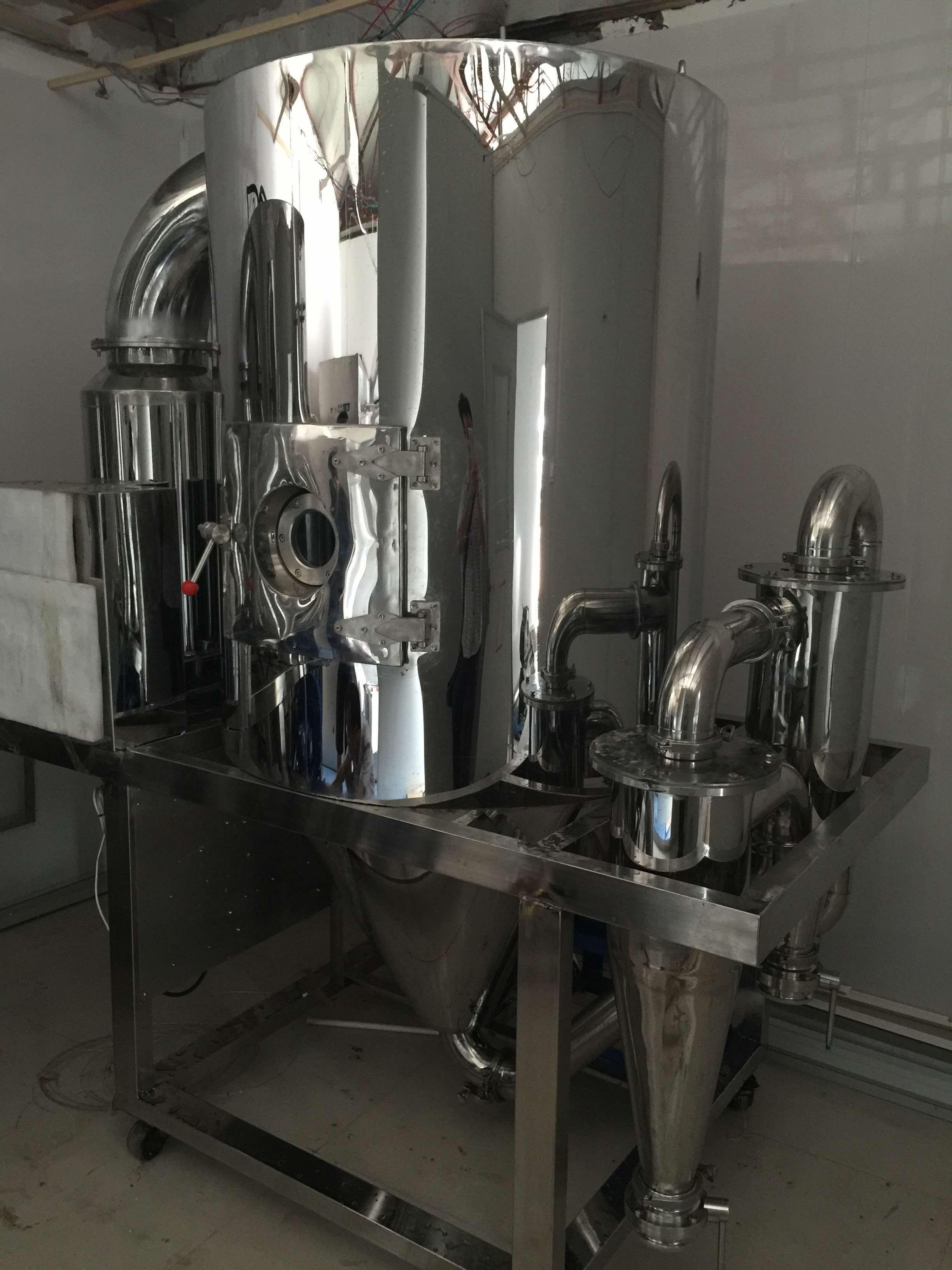 研发的蒸发能力50KG冷冻喷雾干燥机已进入调试