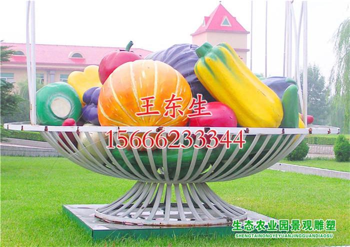 菜篮子雕塑厂家 仿真蔬菜水果雕塑-寿光汇智雕塑艺术