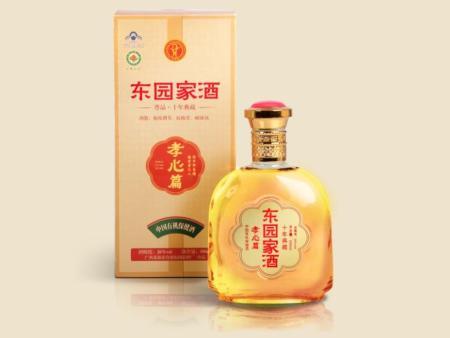 东园家酒高端新品 有机保健酒 孝心篇单瓶盒装500ml  十年典藏