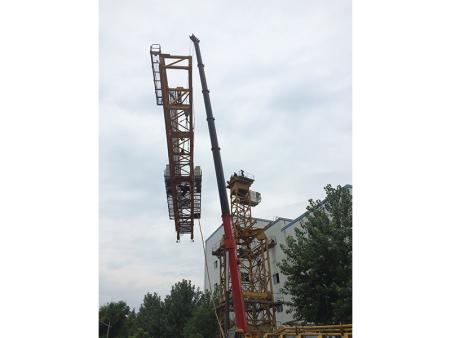 陕西省华能铜川照金电厂三洋K80/115塔吊安装现场