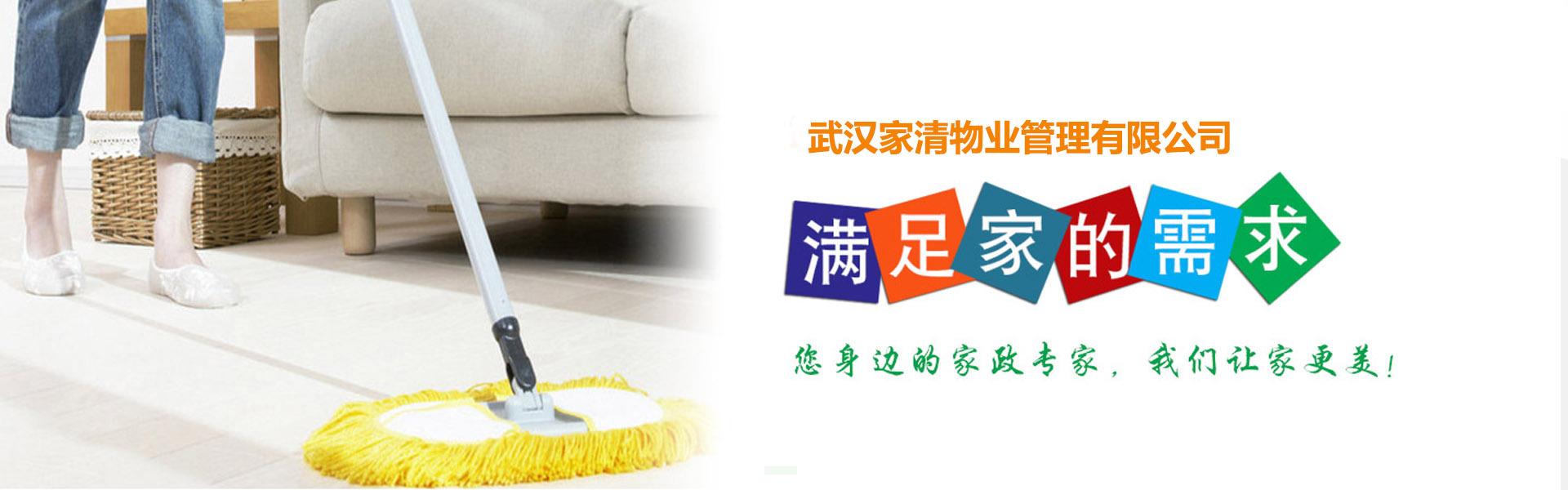 武汉家清物业网站首页形象图-满足家的需求