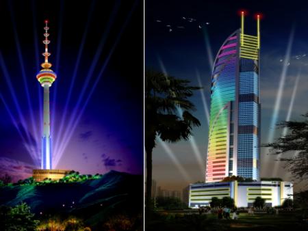 迪拜部分楼体亮化工程