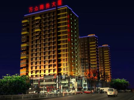 凤县部分建筑亮化效果图