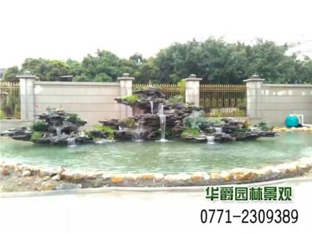别墅假山水景 别墅园林绿化 园林设计