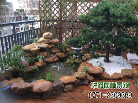 园林设计 别墅园林绿化 景观假山 别墅假山水景