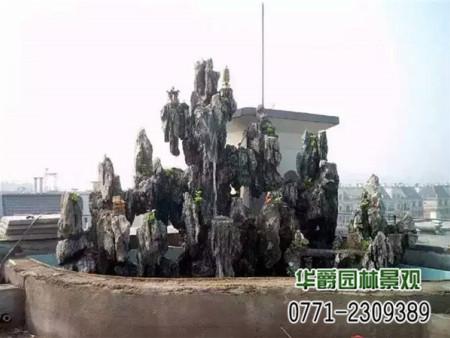 别墅假山水景
