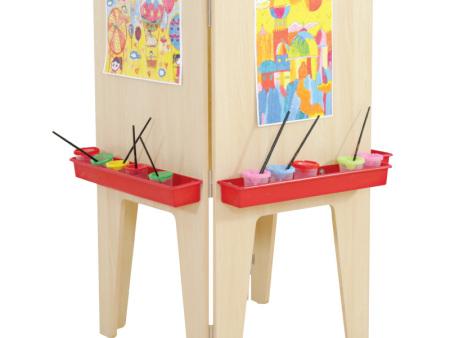 西安碧海彩立方注册教学设备有限公司-木质四面画架
