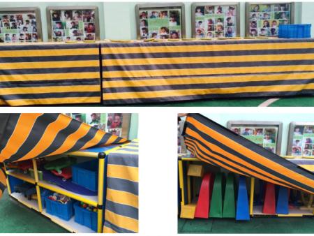 西安碧海彩立方注册教学设备有限公司-户外玩具储藏架