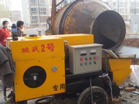 細石砂漿注漿泵 發往河南商丘 調試成功