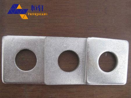 厂家定做异性镀锌四方垫片方形垫片圆孔方形垫片止水垫片本色方垫