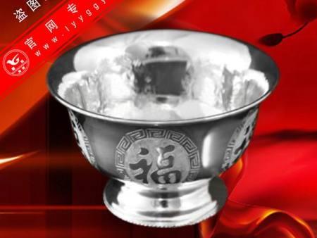 精品純銀碗(L款)—五福圖
