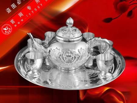 浮雕牡丹茶具