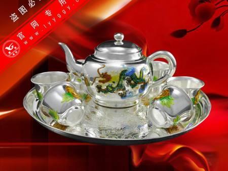 景泰藍祥龍茶具