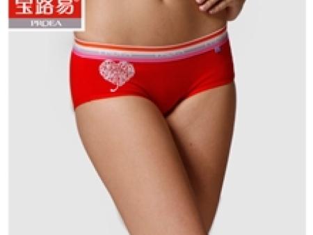 【情侣款】心心相印【宝路易】女士三角内裤弹力棉时尚0716