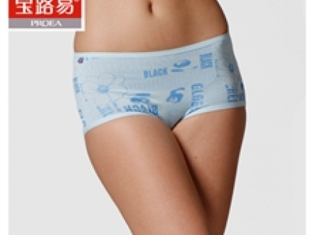 【舒适莫代尔】女士平角内裤【宝路易正品】时尚印花0705