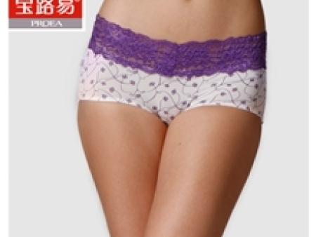 【舒适莫代尔】女士平角内裤【宝路易】时尚性感/蕾丝0702