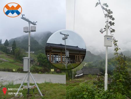乐山市峨眉山半山有机体验示范园区|小型气象站监测系统