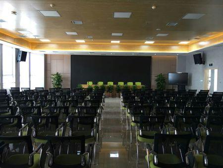 铜川药王健康产业园多功能厅专业音响及楼内背景音乐系统投入使用