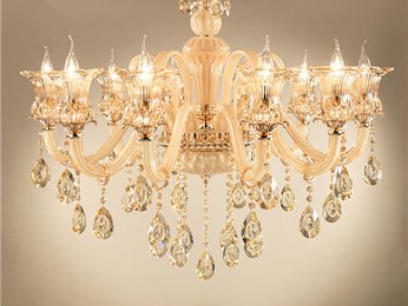 欧式水晶吊灯别墅复式楼梯客厅吊灯大气卧室水晶灯餐厅灯玉石灯具