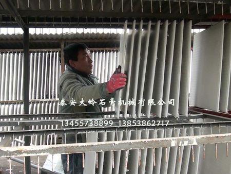 针对成套石膏板自动生产线设备前的注意事项进行下简析!