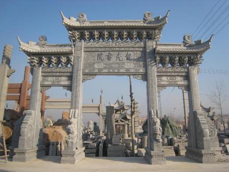 修建石雕牌坊有什么作用 惠安石材雕刻