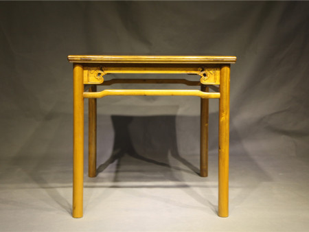 明式瘿木方桌