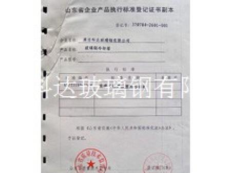 企业产品执行标准等级证书副本 (1)