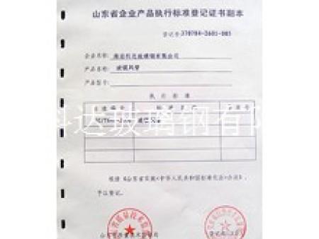 企业产品执行标准等级证书副本 (5)