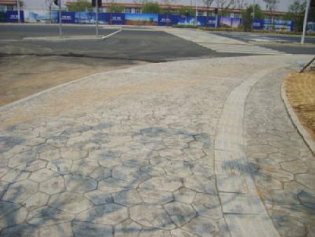 济南西客站3万平艺术地坪铺装工程