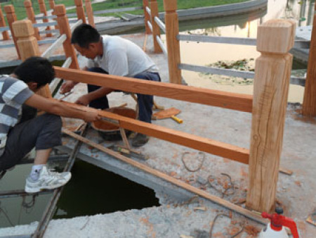 山东恒源石化集团仿木工程