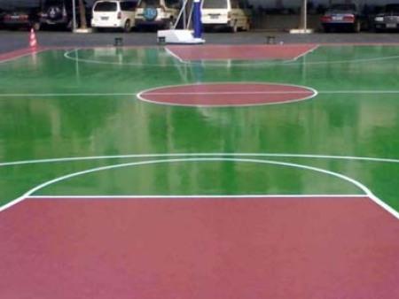 弹性丙烯酸塑胶球场施工