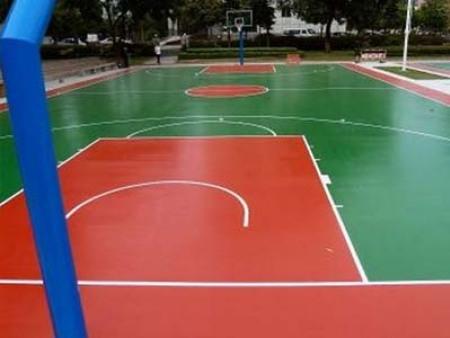 EPDM塑胶球场施工