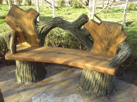 水泥仿木石凳