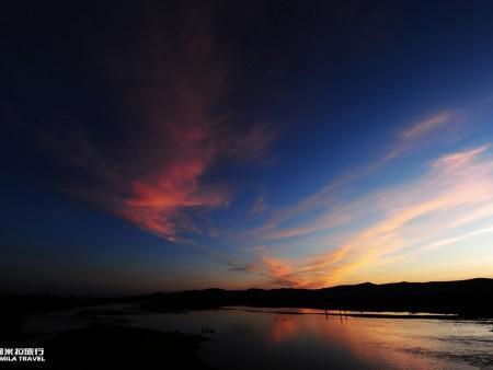得耳布干河的日落