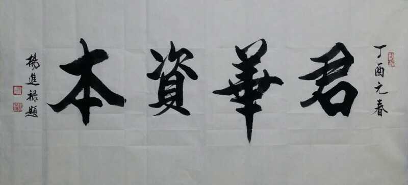 著名书画家杨进禄,凤凰书画院院长为君华资本有限公司题《君华资本》
