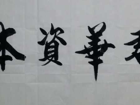 书画家杨进禄,凤凰书画院院长为君华资本有限公司题《君华资本》