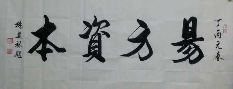 著名书画家杨进禄,凤凰书画院院长为易方资本有限公司题《易方资本》