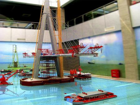 桥梁施工模型